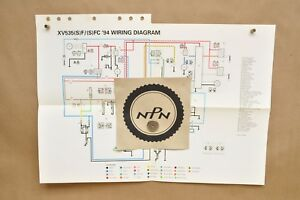 Details about 1994 Yamaha Virago XV535 S SF SFC FC Factory Color Schematic on