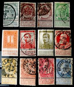 Belgium Stamps Sc 82 103 Used Ebay
