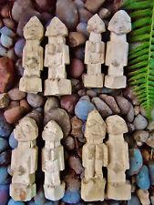Two Yoruba Figurines Carved Aworan for Ritual Magic Ifa Santeria Lucumi Pagan