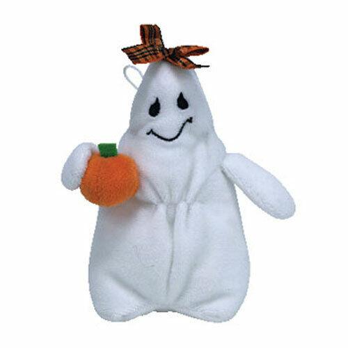 TY Halloweenie Beanie Baby - GHOULIANNE the Ghost (4.5 inch) - MWMTs Halloween
