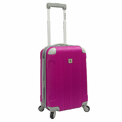 "Beverly Hills Country Club Malibu 21"" Hot Pink Carry On Suitcase Spinner Luggage"