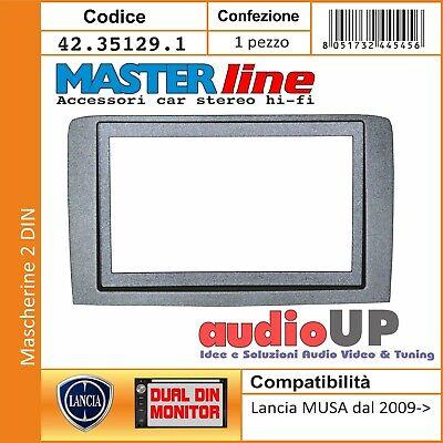 Mascherina adattatore  radio DOPPIO ISO LANCIA Musa  SILVER dal 2010