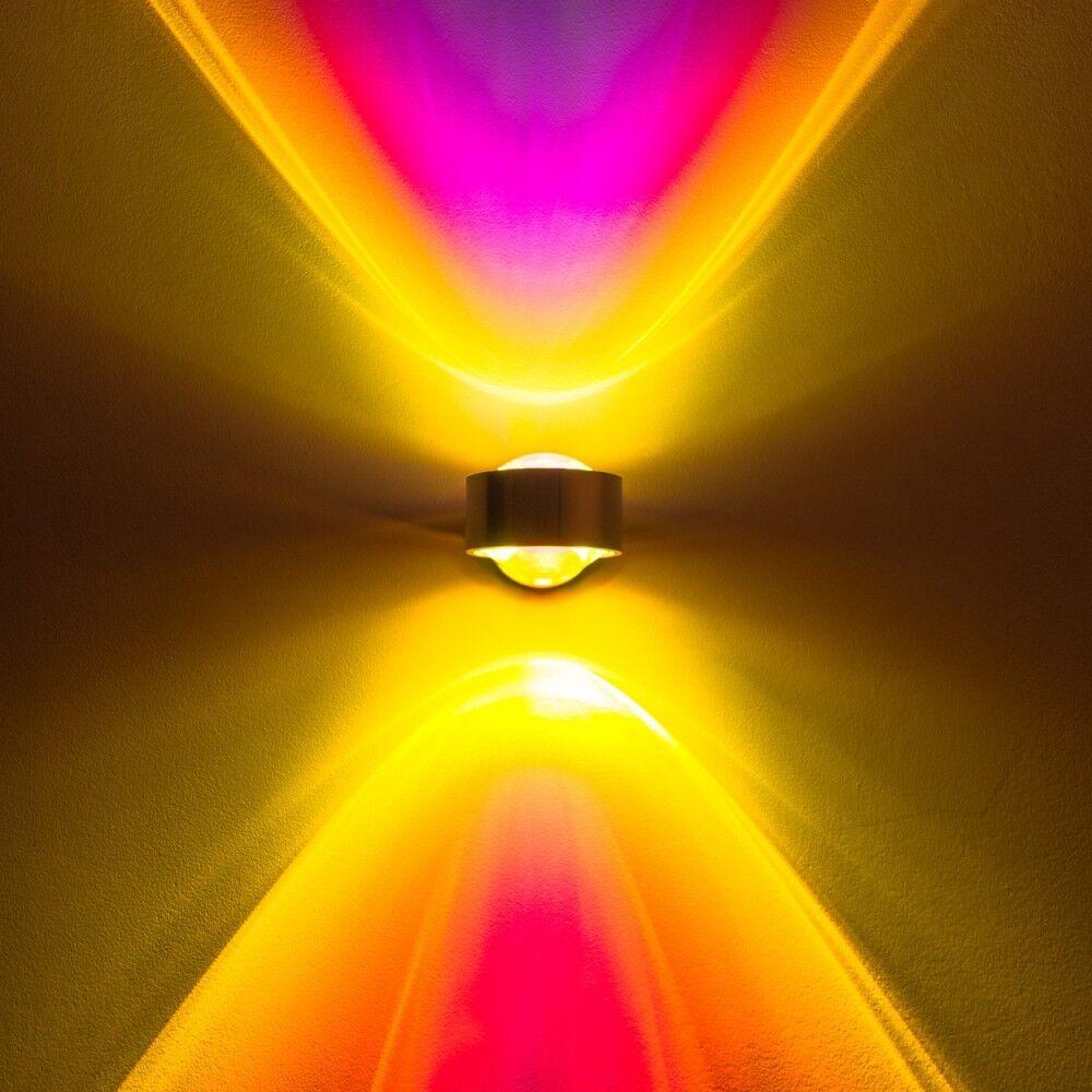 LED Wandleuchte Lampe Strahler Wohn Flur Zimmer Up Down Farbfilter blau magenta | Zürich