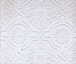 Circle-Medallion-and-Embossed-Design-Tin-Ceiling-Paintable-Wallpaper-148-32817