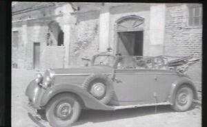Foto-Negativ-Oldtimer-Cabriolet-40er-Jahre