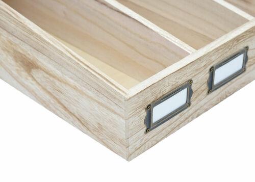 B-Ware Besteckkiste MCW-C25 Boîte avec Couvercle Paulownia 17x37x33cm Naturel