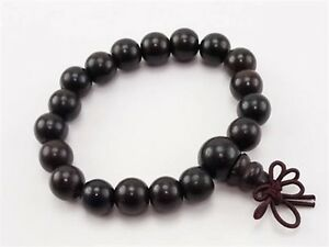 Long Stretch 18 11mm Black Sandalwood Yoga Meditation Prayer Beads Mala Bracelet