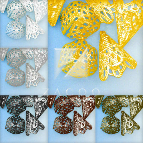 20pcs Flower Beads Caps Spacer Jewelry Making Finding 19x17x17mm Free Shipping