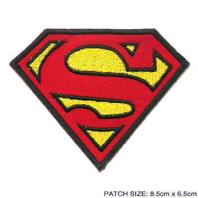 "SUPERMAN - Cool ""S"" Logo Iron-On Patch - Flat Style Embroiderey - NEW"