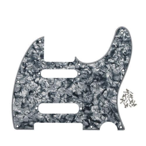 NEW Grey Pearl FD Nashville Tele Style Guitar Pickguard SS 8 Holes /& Screws