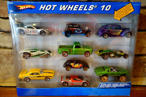 Hot-Wheels-10-Vehicle-Gift-Pack-Diecast-Car-Corvette-Chevy-Truck-VW-and-Others