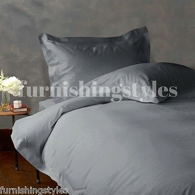 LUXURY EGYPTIAN COTTON DUVET SETS PILLOW CASES FITTED SHEET FLAT SHEET ALL SIZES