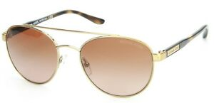 Michael-Kors-Sal-Sunglasses-Rounded-Pale-Gold-Brown-Lens-Womens-Ladies