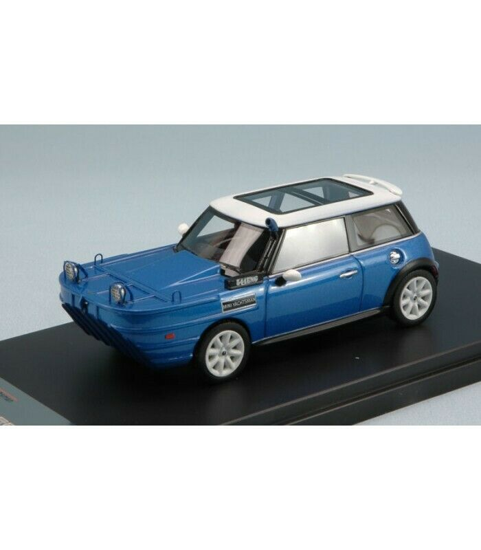 MINI COOPER S YACHTSMAN 2012 METALLIC BLUE/WHITE 1:43