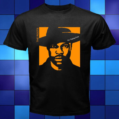 THE ROOTS THE TIPPING POINT Hip Hop Music Black T-Shirt Size S to 3XL