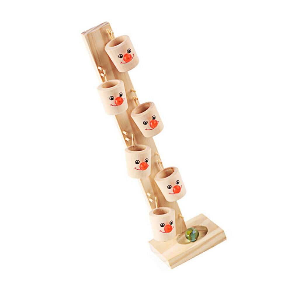 1 Set Kids Glass Rolling Game Toy Interesting Wooden Rolling Game