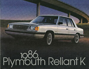 1986 Plymouth Reliant K Car Brochure Se Le Wagon Ebay