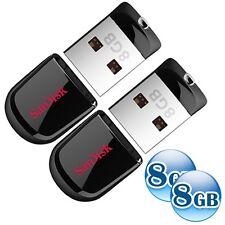 LOT of 2 8GB = 16GB 16G SANDISK CRUZER FIT 8G USB Flash Pen Key Drive Stick Disk