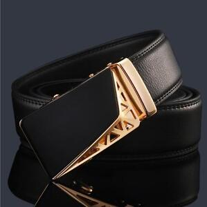 Men-039-s-Genuine-Leather-Fashion-Automatic-Buckle-Belts-Waist-Strap-Belt-Waistband