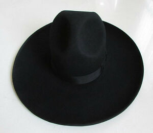 Hot Israel Jewish Hat Wool Hasidic Jews Wide Brim Fedora Cap Black ... 2524a16cda6