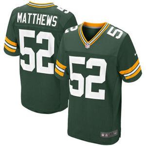 4283dac76 Nike NFL Green Bay Packers Clay Matthews ELITE Home Jersey Size 44 ...