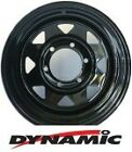 "DYNAMIC Steel Black Sunraysia 16x8"" 6x114.3 Steel Rim"