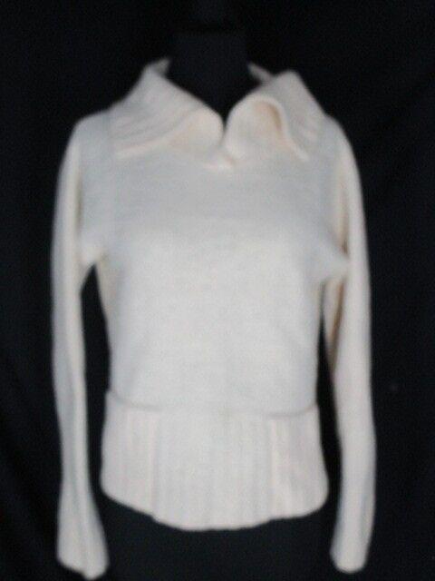 Eileen Fisher Cream Cream Cream Wool Blend Sweater M ea4775