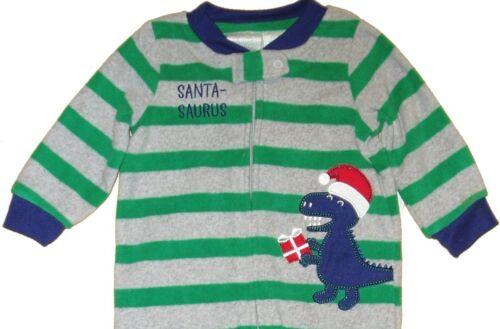 Sleep Play Xmas Fleece Boys Sleeper Warm Outfit Footed Pajamas Coverall Holiday