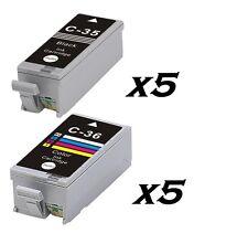 10 inchiostri PGI 35 & CLI 36 per Canon Pixma ip100 ip100