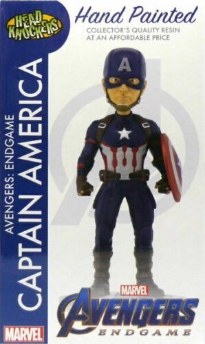 NECA MARVEL AVENGERS Captian AMERICA HEAD KNOCKER in magazzino