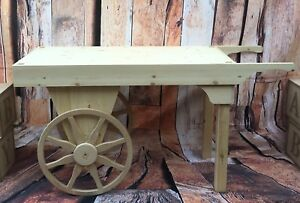 Details About Market Barrow Retail Stall Diplay Rustic Wood Candy Cart Wooden Barrow Wedding