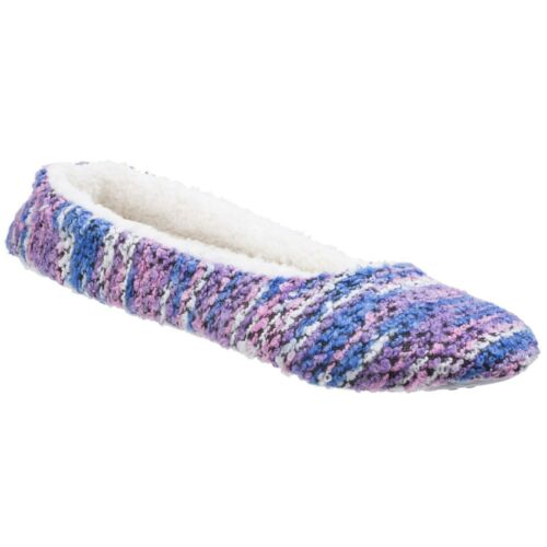 Divaz Morzine Pull On Knitted Ballerinas Ladies Ballet Knit Flat Slippers Womens