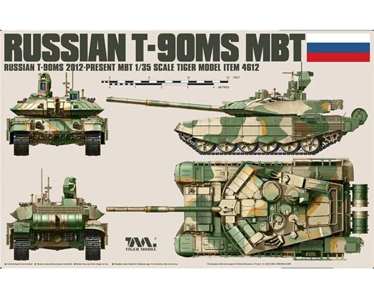 TIGER MODEL RUSSIAN T90 MS MBT 1/35 COD.4612