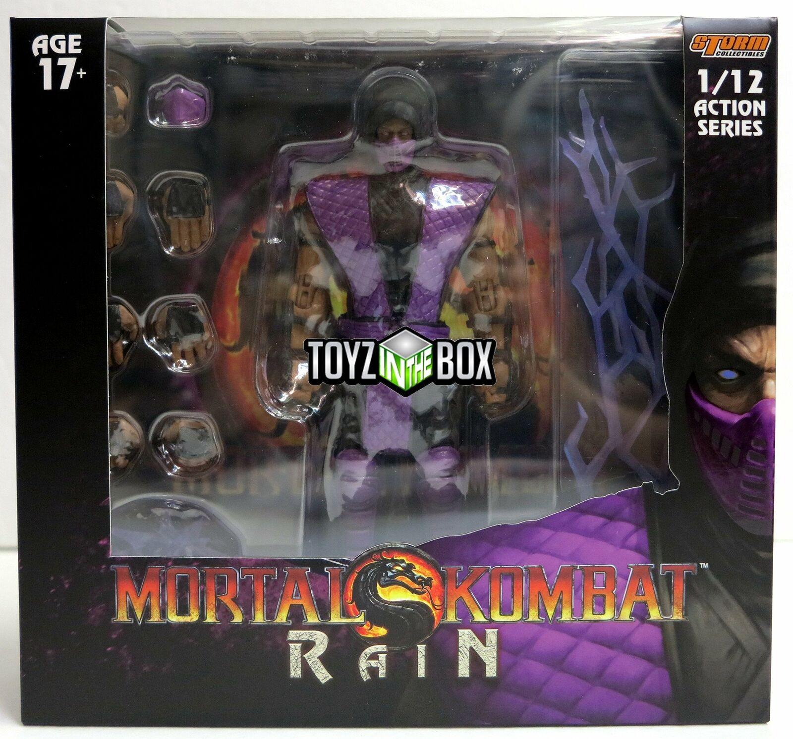 In STOCK Storm Collectibles Mortal Kombat NYCC 2018  Rain  1 12 Action Figure