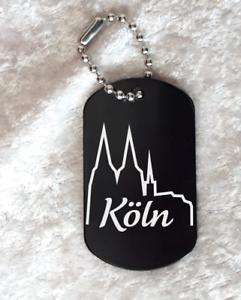 """Aluminium schwarz eloxiert Schriftzug /""""Köln/"""" 5 x 2,9cm Kölner Dom"""