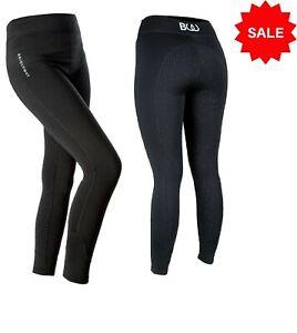 Bridleway-Black-Maple-Ladies-Jodhpurs-Warm-Fleece-Lined-Riding-Tights-Grip-Seat