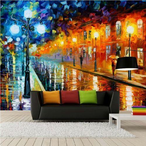 3D Painting Night light WallPaper Murals Wall Print Decal Wall Deco AJ WALLPAPER