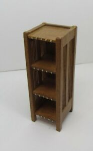 Details About Dollhouse Miniatures, Craftsman Style Bookshelf Lamp/Side  Table, Bespaq, 1/12