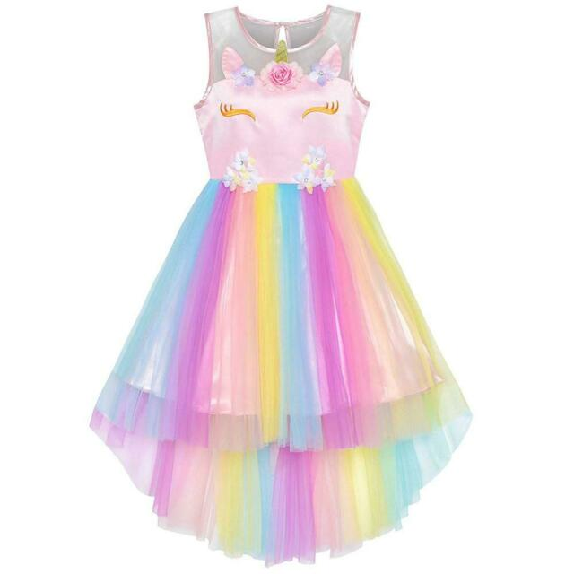 93079324cc945 Sunny Fashion Robe Fille Sequin Mesh Partie Mariage Princesse Tulle 7-14 Ans