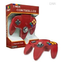 Solid Red Cirka Controller Control Pad Gamepad For N64 Nintendo 64