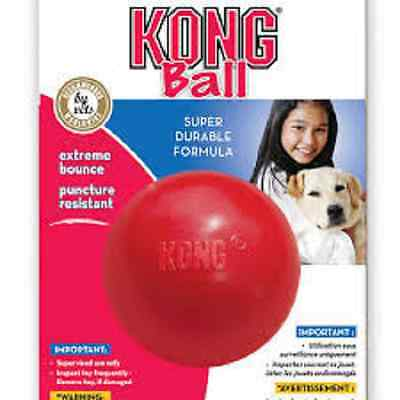 Kong CLASSIC Red Rubber Ball Dog Fetch & Tough Chew Interactive Toy