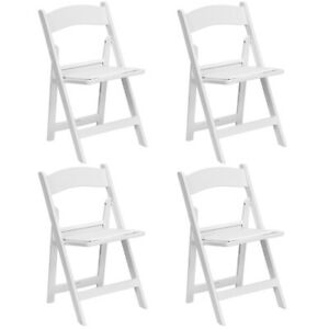 Astonishing Details About 4 White Folding Resin Chair For Wedding Party School Office Indoor Outdoor Event Creativecarmelina Interior Chair Design Creativecarmelinacom