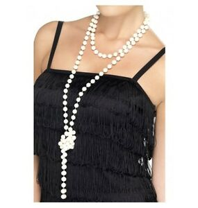 LONG-PEARL-NECKLACE-COSTUME-ACCESSORIES-PERFECT-FOR-THE-20-039-S-AND-30-039-S-THEME