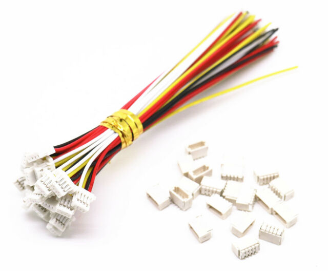 5 sets Micro JST SH 1.0mm 4-Pin Female Connector with Wire and Male Connector