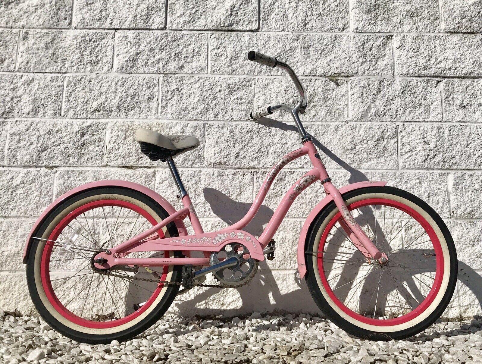 Electra Hawaii Niños Jóvenes Playa Crucero Bicicleta  rosado  20  ruedas  Lindo