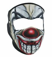 Creepy Joker Red Nose Evil Clown Neoprene Face Mask Biker Costume Party Reverses