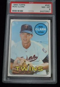 PSA-Graded-8-NM-MT-1969-Topps-Ron-Clark-Minnesota-Twins
