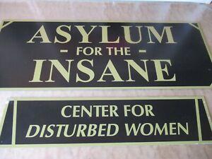 "EVAL CTR FOR DISTURBED WOMEN METAL 18/"" X 4/"" DORM ROOM SIGN FRATERNITY SORORITY"