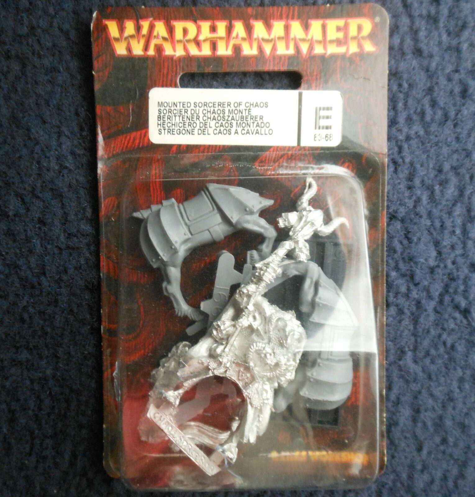 2002 Chaos Sorcerer Mounted Citadel Warhammer Army Evil Mage Magus Wizard MIB GW