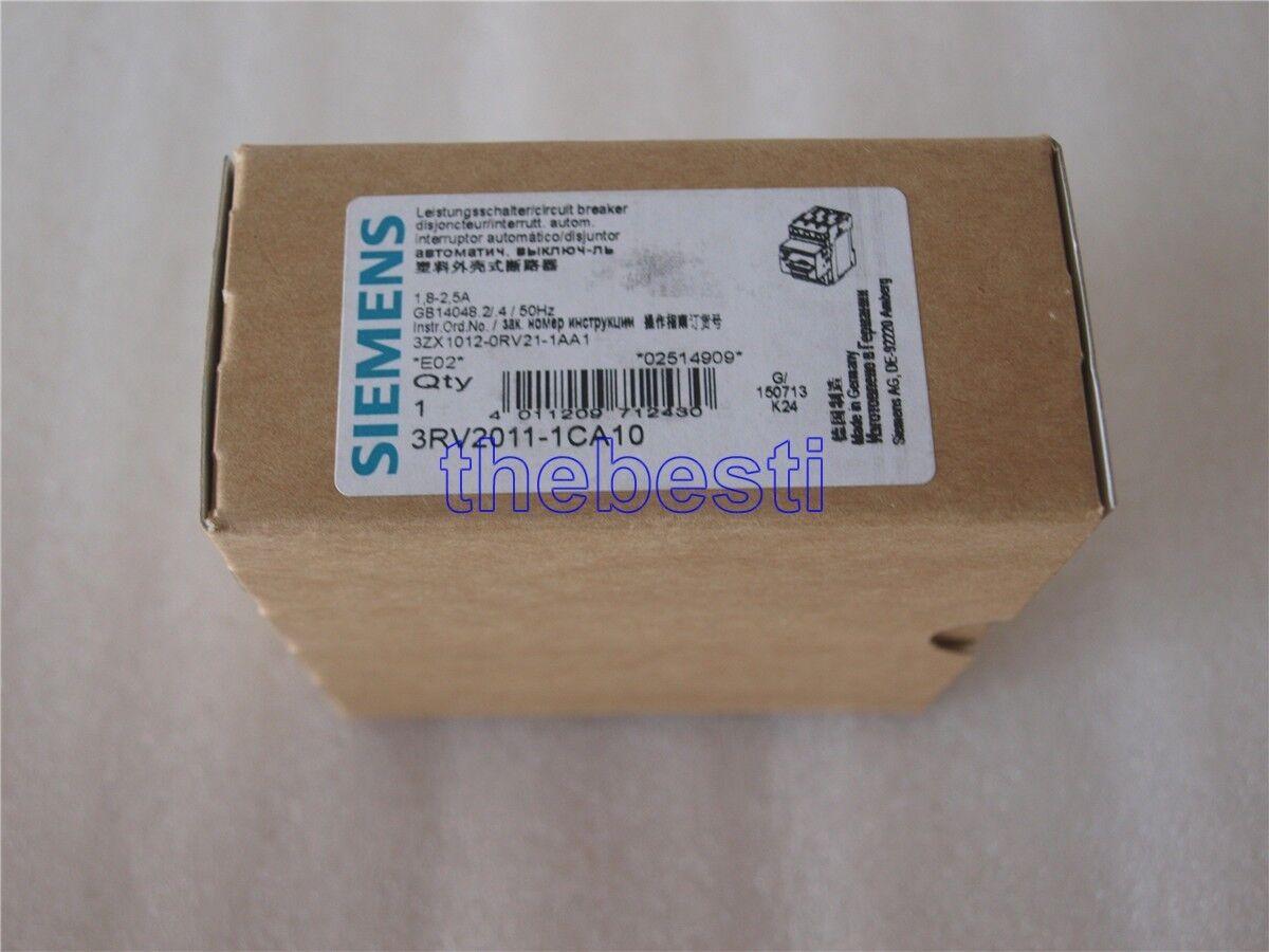 1 PC New Siemens 3RV2011-1CA10 Circuit Breaker In Box
